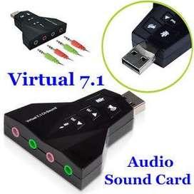 USB Adaptador Virtual de 7.1 Canales 3D Audio DUALTarjeta de Sonido