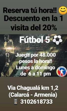 Cancha de fútbol 5 con 20% descuento la 1 visita