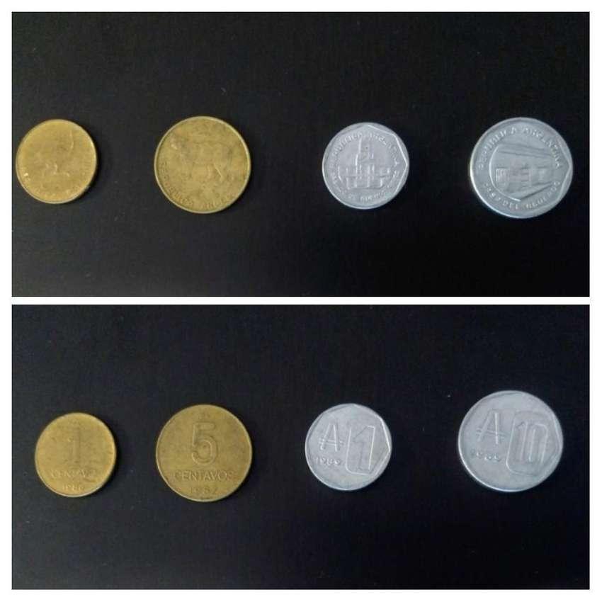 Austral. Moneda de 1 y 10 australes, y de 1 y 5 centavos. 1986 a 1989 0