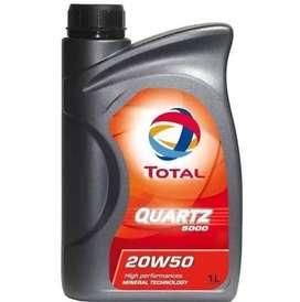 Aceite Total QUARTZ 500 20w50. Diesel y nafteros x 1Lts