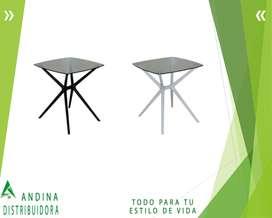 Mesa Elegante De Vidrio Redonda, Circular, Comedor Nuevas