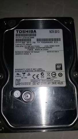 Disco duro TOSHIBA de 500 gb