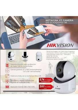 Cámaras de Seguridad IP WiFi Hikvision para Interiores 2MP Roboticas Mini PTZ Audio 360 Grados Alarmas CCTV Guayaquil.