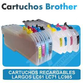 Cartuchos Recargables Brother LC51 LC61 LC71 LC985 Extra largos