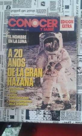 Revista Conocer Y Saber Año 1989 El Hombre En La Luna