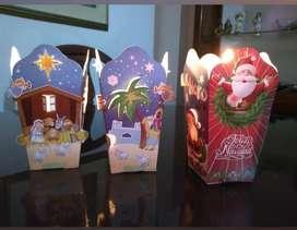 Faroles navideños por docena