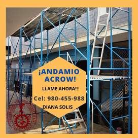 Andamios Convencionales (Acrow) - RHM Andamiaje y Estructuras Metalicas S.A.C.