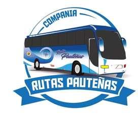 Se vende  una linea de trabajo en la compañia  de buses rutas pauteñas paute azuay ecuador.
