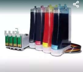 Se instalan sistemas de recarga para impresoras Epson CANON