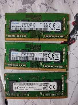 Vendo memorias ram ddr4 de 4 GB una 70000 dos por 120000
