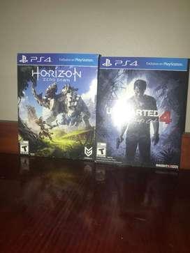 PS4 Uncharted 4 Y Horizon Zero Down