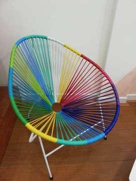 Hermosas sillas Acapulco + mesa de centro