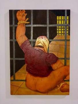 """Cuadro """"el horror de Abu Ghraib"""