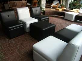 Sofa negro individual