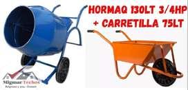 (COMBO 1) HORMIGONERA + CARRETILLA