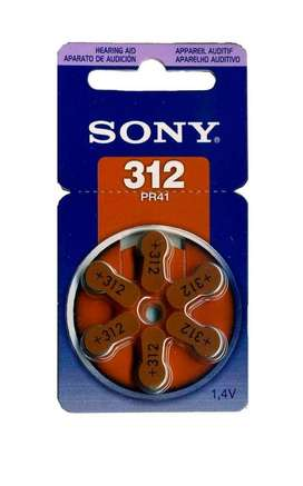 Pilas Sony 312 Para Audifonos X 6 Unidades