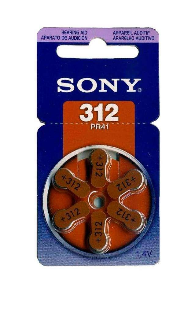 Pilas Sony 312 Para Audifonos X 6 Unidades 0