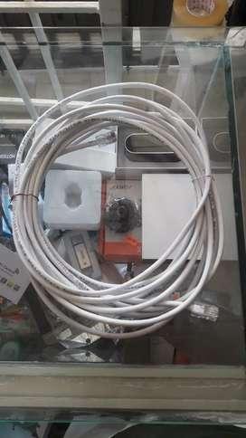 Cable de red o Utp cat 5E ponchado y probado a la medida x metros