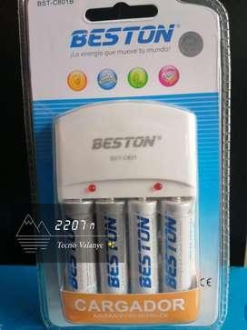 4 Baterías recargables BESTON BST AA 2700 1.2V