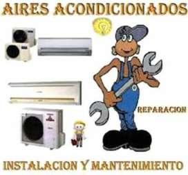 Instalacion..reparacion..y mantenimiento d aires acondicionados