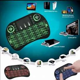 Teclado mini retro iluminado Smart TV pc touchpand