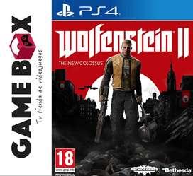 Wolfenstein Ii 2 The New Colossus Ps4 - Disco Fisico Nuevo