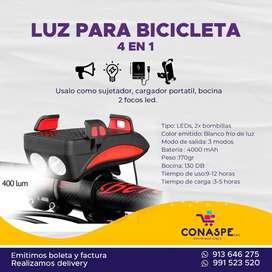 Luz para Bicicleta 4 en 1