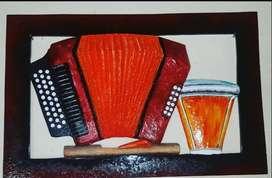 Obra de arte tallada en madera y mdf