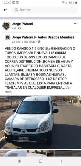 VENDO EXELENTE KANGOO 1.6.GNC 5taGENERACION 2013