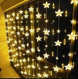 Luz Luces Cortina estrella LED 3* x 1.5 cajón de 20 unidades