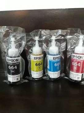 Tinta para impresora Epson 664 x 4