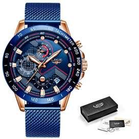Reloj Para Hombre, De Cuarzo En Acero Inoxidable 100% Garantizado