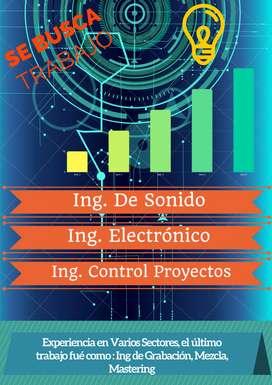 SERVICIOS DE ING DE SONIDO, ING ELECTRÓNICA, ING CONTROL PROYECTOS