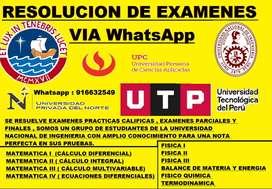 Resolucion de examenes universitarios via whatsapp