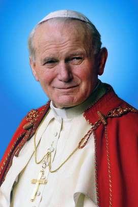 Lienzografia del Papa   Juan Pablo II    y  papa Francisco