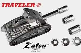 Zatsu. Super Kit Multi-herramientas 16 en 1 Para Bicicletas