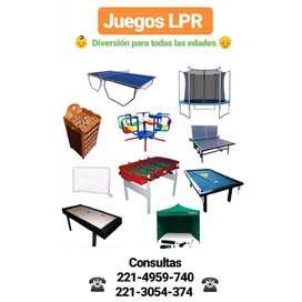 Vendo Metegol Tejo Sapo Pool Ping Pong cama elastica Arcos de fútbol