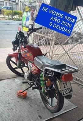 VENDO ORO MOTO AÑO 2020 NO DEBE NADA UN SOLO SUEÑO NORTE GUAYAQUIL PRECIO 950$