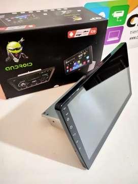 Pantalla Android 10 pulgadas, base 1 din. Android 9.1 bluetooth USB Mirrorlink GPS YouTube Maps Cámara de retro GRATIS!!