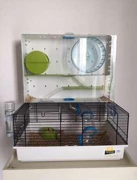 Casa de hamster bien adaptada