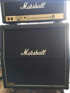 Marshall cabezal Jcm900 y caja marshall 1960a con anvil