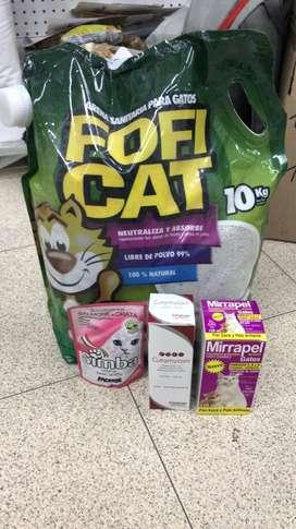 Arena Fofi cat gatos absorbente