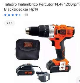 Vendo taladro inalámbrico black decker 14.4v lithium usado