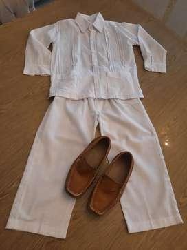 Vestido guayabera niño talla 6 CALI