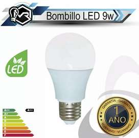 Promoción set 4 bombillos led 9 watts luz blanca  Marca Soled