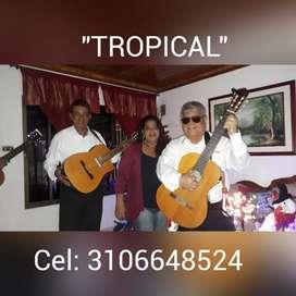 Trío tropical es lo que estaban esperando para su serenata