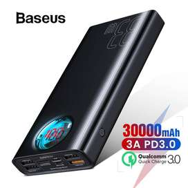 Power Bank Baseus 30.000mAh USB C PD Carga Rápida con Pantalla LED Macboock
