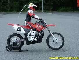 Moto para competir & quot; RADIOSHACK RC RADIO CONTROL HONDA CR250R RICKY CARMICHAEL MOTOCROSS BIKE LT WEAR