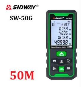 Medidor de distancia láser verde SNDWAY, telémetro Digital 50m.