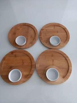 Set de platos para asados
